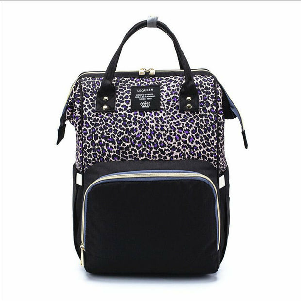 Leopard Print Backpack Nappy Diaper Bag