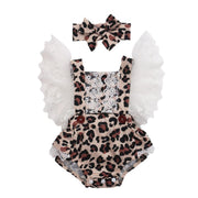 Leopard Jumpsuit Summer Baby Clothing + Hairband Outfits