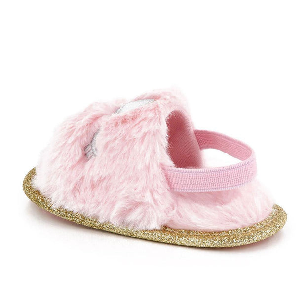 Fluffy Slides With Sparkle Soles Assorted