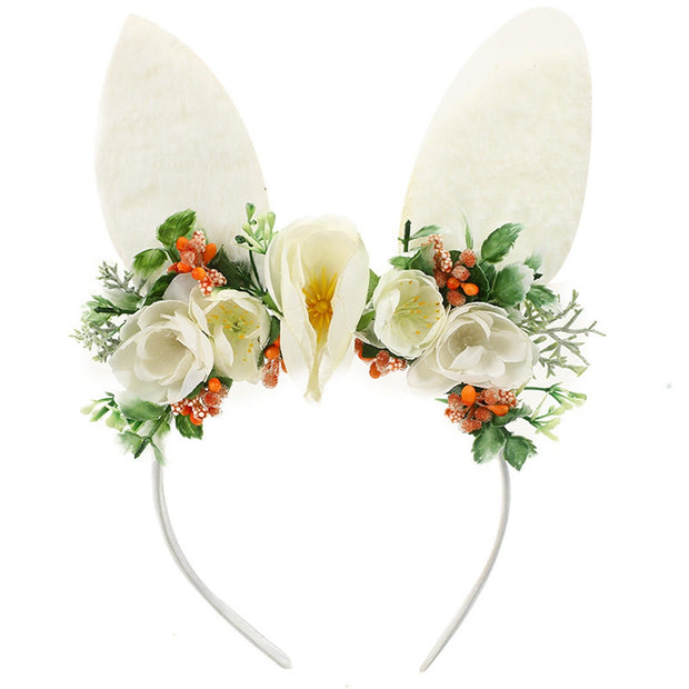 Girls Easter Bunny Ear Headwear