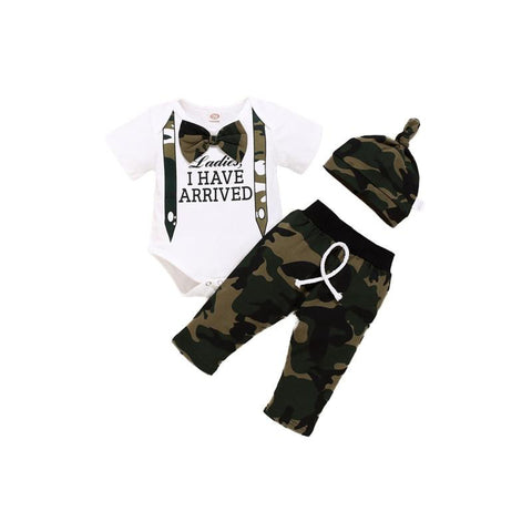 Ladies I Have Arrived Newborn Camo Set - Tots Little Closet