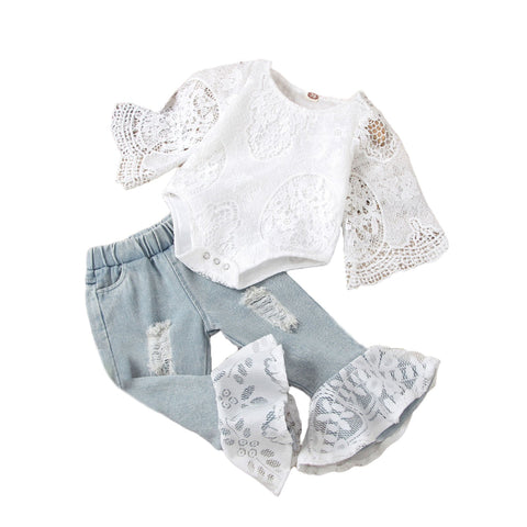 Bailey Boho Lace Set freeshipping - Tots Little Closet