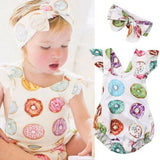 Sweetpie Donut Romper Outfit Set freeshipping - Tots Little Closet