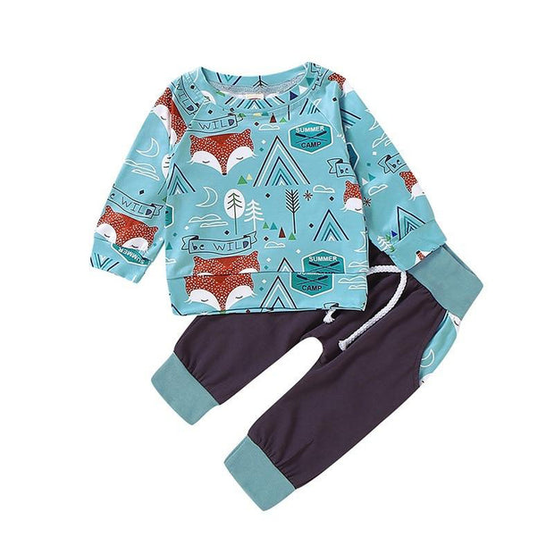 Aqua Fox Tribal Boys Tracksuit Set