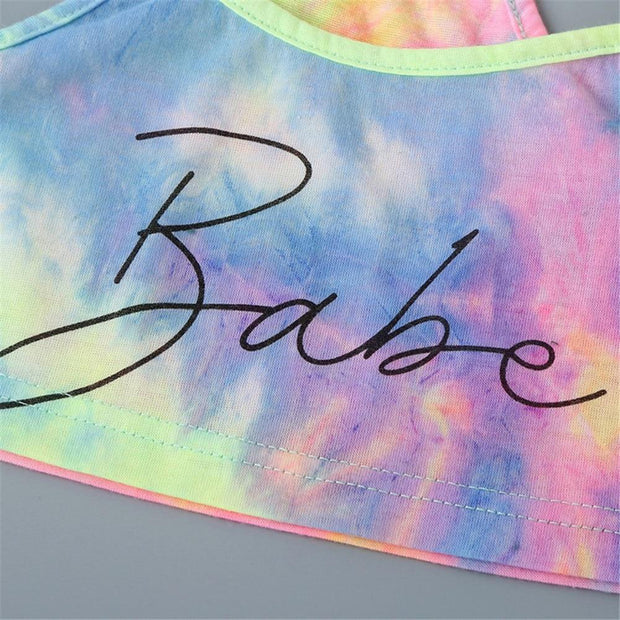 BABE Tie Dye 2pcs Crop & Short Set