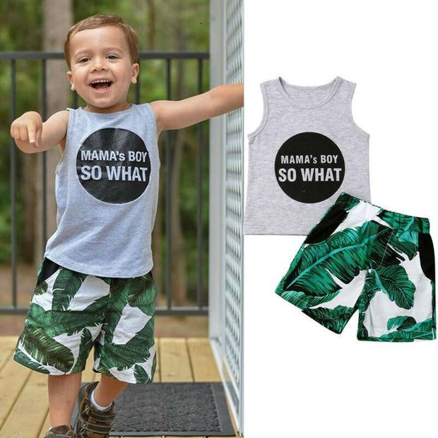 Mamas Boy So What Tropical Summer 2pcs Set