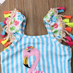 Flamingo Tassel Swimsuit - Tots Little Closet