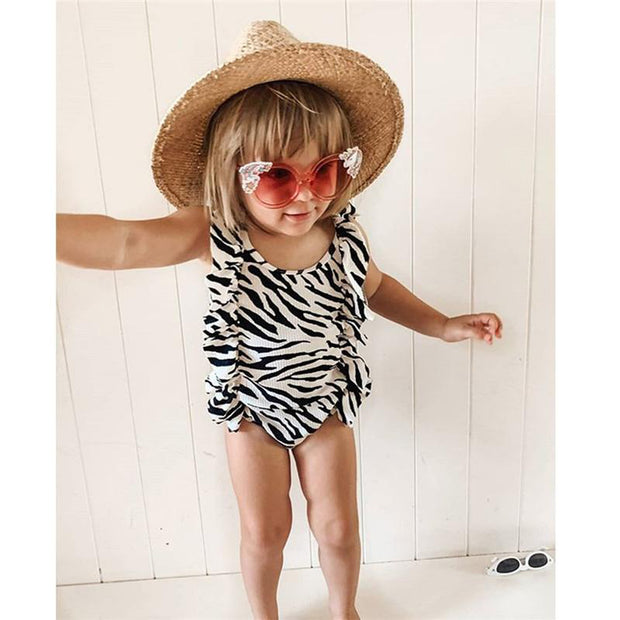 Baby Girls Monokini Beachwear Summer Swim Suit