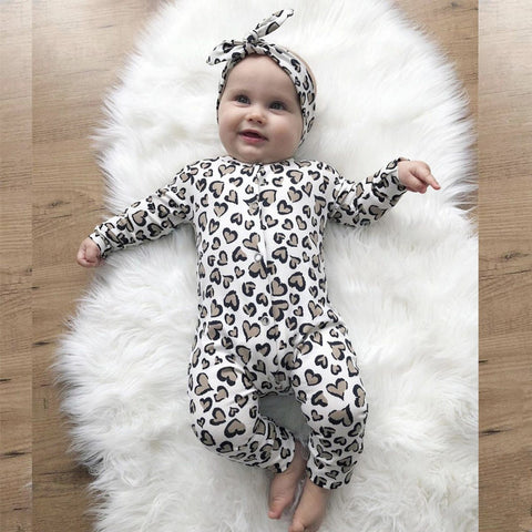 Animal Print Baby Onesie 2 Piece Set freeshipping - Tots Little Closet