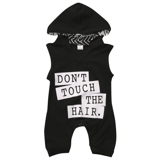 Don't Touch The Hair Hooded Romper