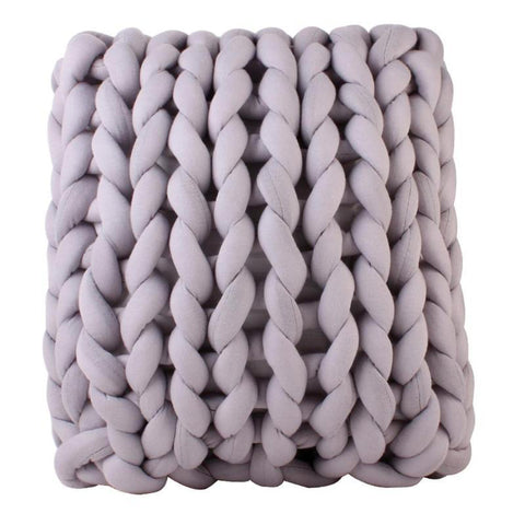 Nordic Innovative Handmade Knotted Cushion Baby Home Plush Pillow Simple Infant Bedroom Decorative Cushions Grey 40 X 40cm - Tots Little Closet