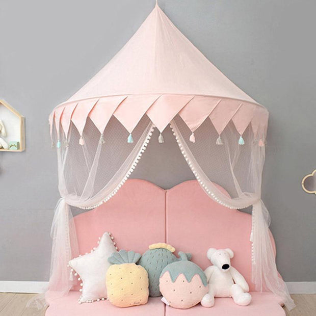Castle Canopy Kids Play Tent Pink