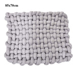 Nordic Knot Soft Play Mat grey 85x70cm freeshipping - Tots Little Closet