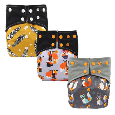 Reusable Baby Cloth Diaper Nappy 3 Pack A