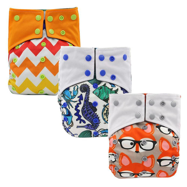 Reusable Baby Cloth Diaper Nappy 3 Pack B