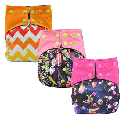 Reusable Baby Cloth Diaper Nappy 3 Pack C