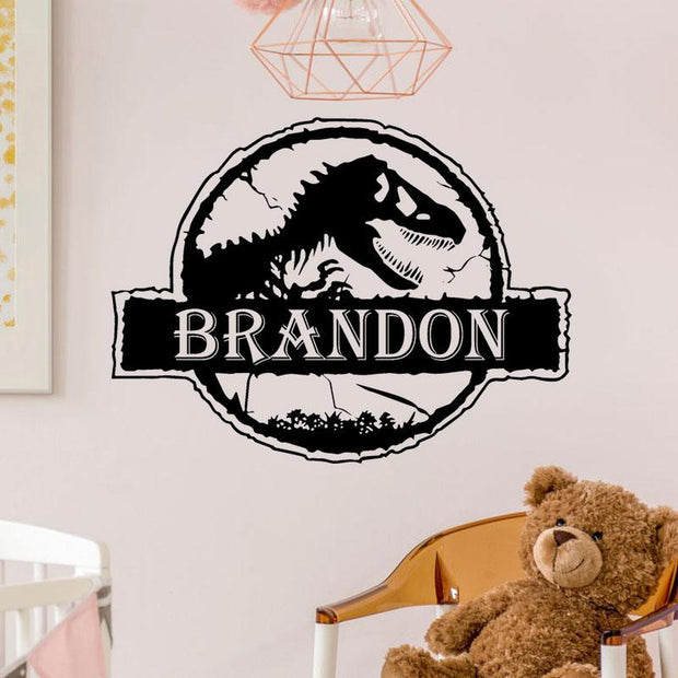 Personalized Name Jurassic Park Dinosaur World Wall Sticker - Tots Little Closet