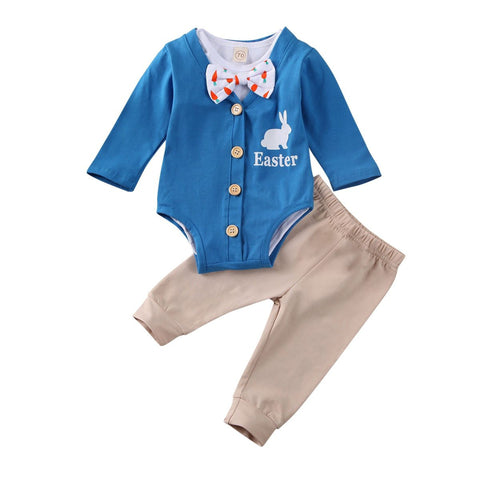 Baby Boys Bow Tie Easter Outfit freeshipping - Tots Little Closet