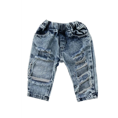 Acid Wash Ripped Jeans - Tots Little Closet