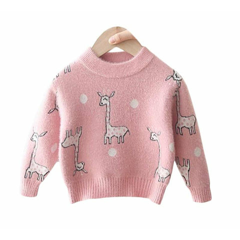 Giraffe Sweater Knit - Tots Little Closet