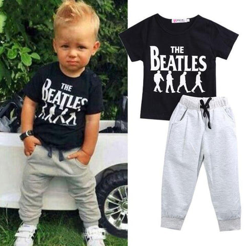Beatles Tee & Trackies freeshipping - Tots Little Closet