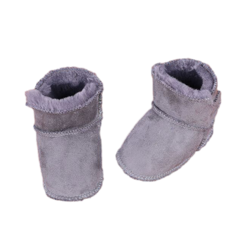 Baby First Walker Boots Grey freeshipping - Tots Little Closet