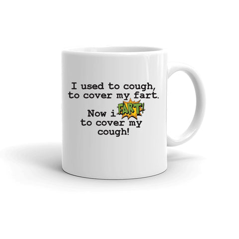 Father's Day Fart To Cover Cough Quarantine Funny Coronavirus Covid19 Lockdown Coffee Mug Inappropriate Humor - Tots Little Closet