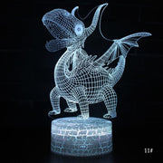 3D LED Night Light Lamp Dinosaur 11 Styles