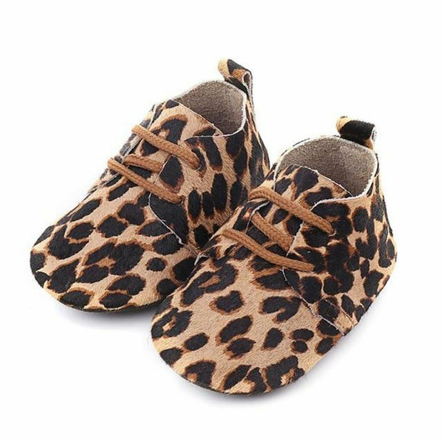 Animal Print Baby Toddler Moccasins