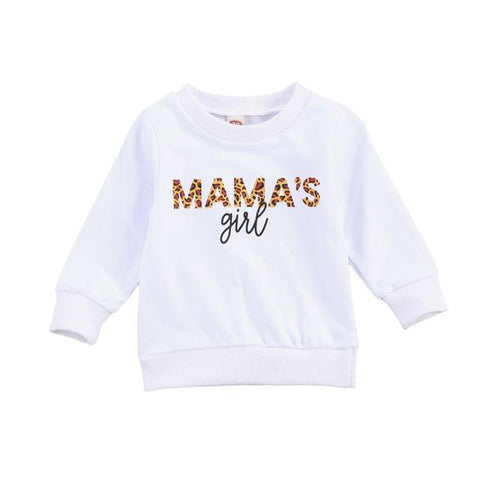 Mama's Girl Sweatshirt White freeshipping - Tots Little Closet