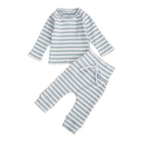 Basic Ribbed Tracksuit Blue - Tots Little Closet