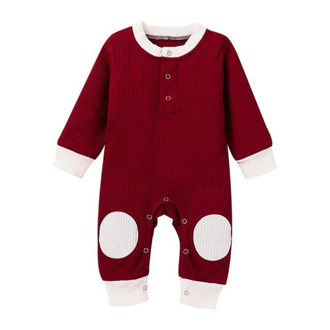 Patchy's Solid Ribbed Onesie Red freeshipping - Tots Little Closet
