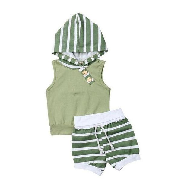 Stripe Hooded Summer Tracksuit