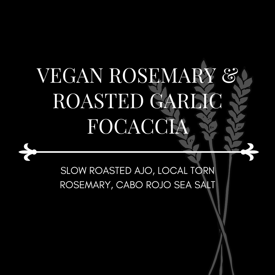 Vegan Rosemary & Roasted Garlic Focaccia