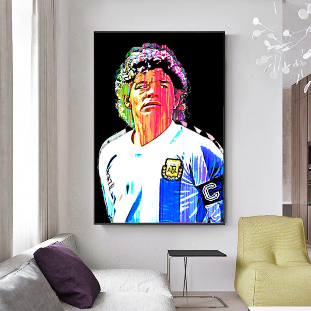 Diego Maradona Dripping graffiti