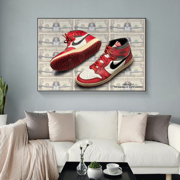 Jordan One ESPN Money Canvas