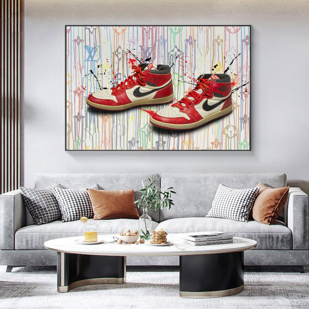 Jordan One X LV Canvas ART