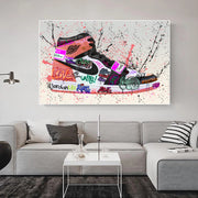 Jordan 1 Rust O.G Graffiti Canvas