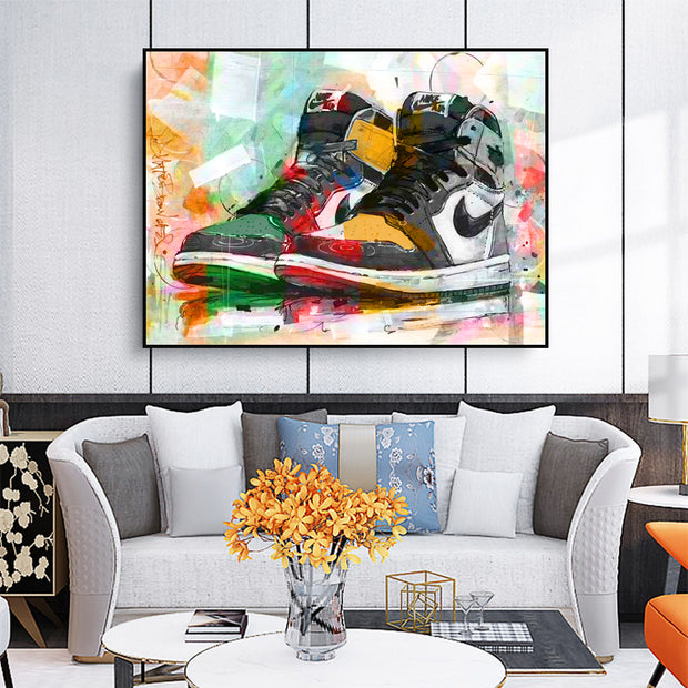 Jordan 1 OG High top Multi colour canvas