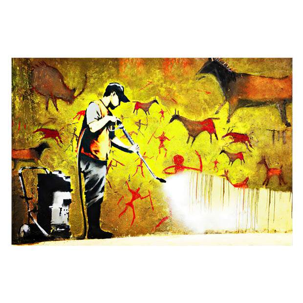 Cave painting Banksy