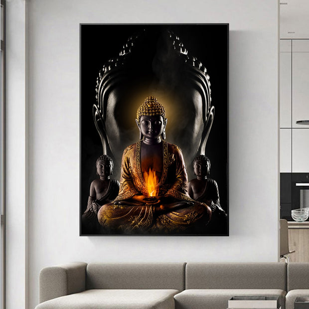 God Buddha Wall Art Canvas