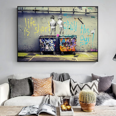 """Life Is Short Chill The Duck Out"" Canvas"
