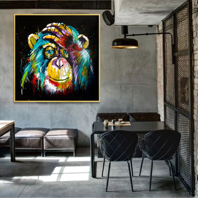 Thinking Monkey Wall Art Canvas Print