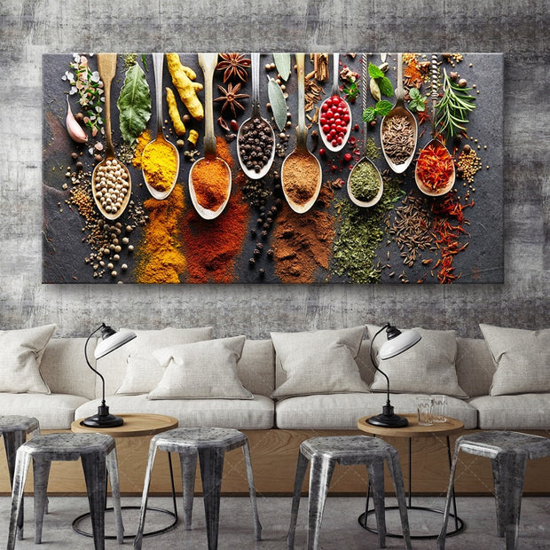 Herbs & Spices Canvas Print