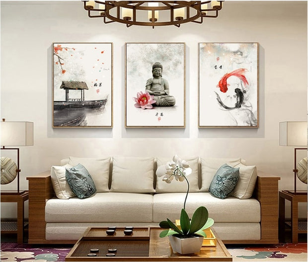 Japanese style canvas prints