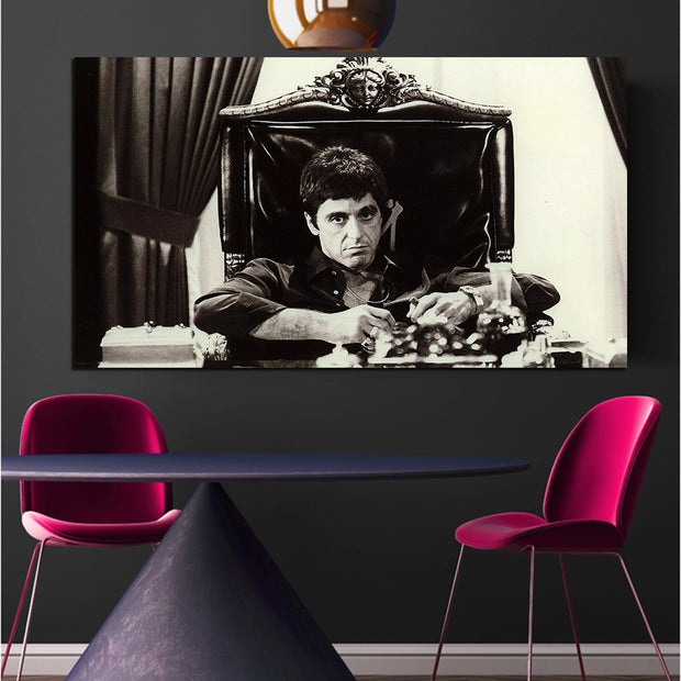 AL Pacino Scarface Black & White Print