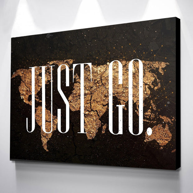 Gold World Canvas print