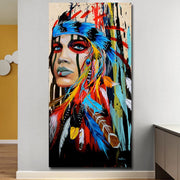 Feathered Women Canvas Print