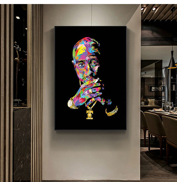 Graffiti Tupac canvas