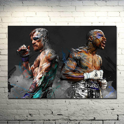 McGregor Mayweather Canvas